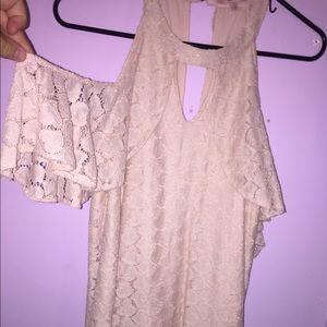 super cute pink lace dress!